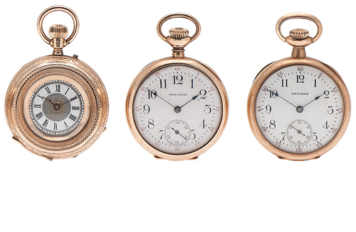Waltham, Elgin and Lady Racine Pocket Watches