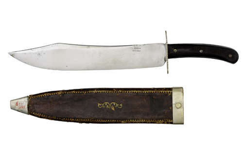 Large Bowie Knife by Schmid of Providence, Rhode Island