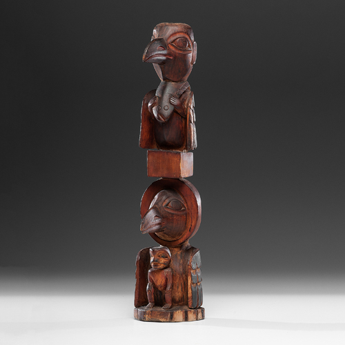 Haida Carved Wood Sculpture, Exhibited at the Booth Western Art Museum, Cartersville, Georgia