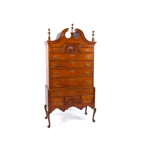 Queen Anne Bonnet-Top Highboy
