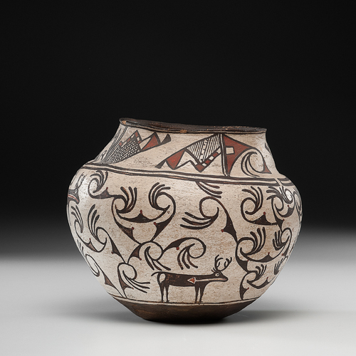 Zuni Pottery Olla, Exhibited at the Booth Western Art Museum, Cartersville, Georgia