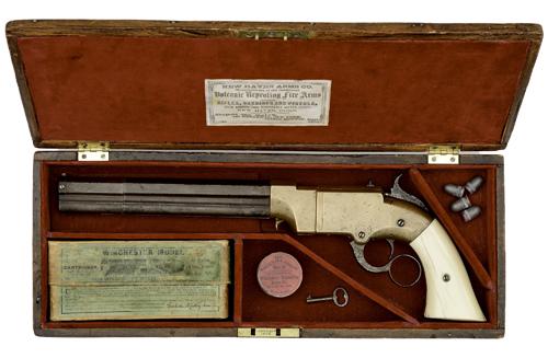 Cased Colt Volcanic Pistol
