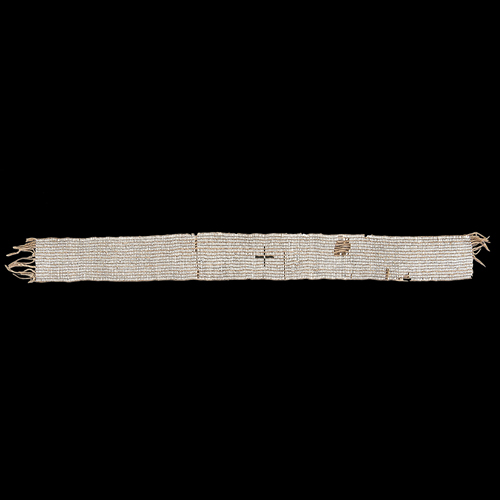 Huron - Wyandot Wampum Belt From the Collection of Jim Ritchie (1938 - 2015), Toledo, Ohio