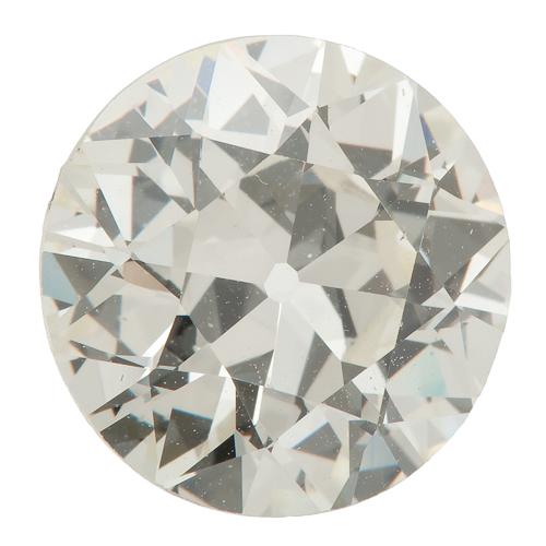 G.I.A. Certified 2.76 Carat Old European Brilliant Cut Diamond