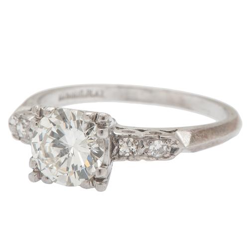 Vintage Diamond Engagement Ring in Platinum