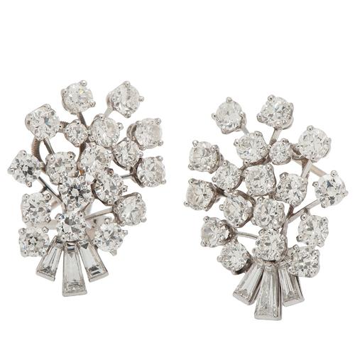 Cartier Diamond Earrings Ca. 1950
