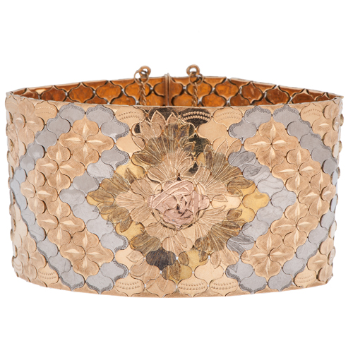 Italmex 18 Karat Quad Color Gold Bracelet