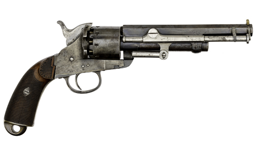 Belgian Brevet Model 1859 Prototype Lemat Percussion Revolver