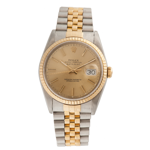 Rolex Oyster Perpetual Datejust in Stainless and 18 Karat Yellow Gold Ca. 1991
