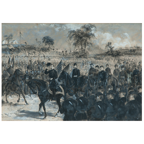 General George B. McClellan Bidding Farewell to Army of Potomac, November 10, 1862, Watercolor by Alfred R. Waud