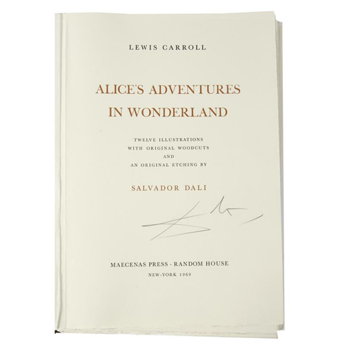 Illustrated - Alice by Salvador Dali, Signed/Limited