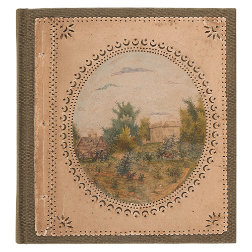 Brook Farm Utopian Community, Hand-Painted 1845 Book of Wildlife