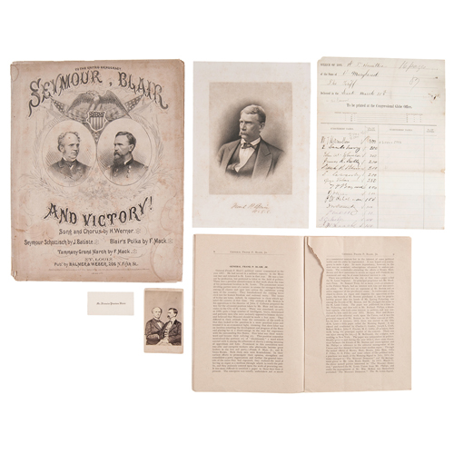 Francis Preston Blair Sr. and Family, Extensive Archive Featuring Letter in which Blair Discusses Advice Given to John Crittenden on his 1860 Compromise, Plus