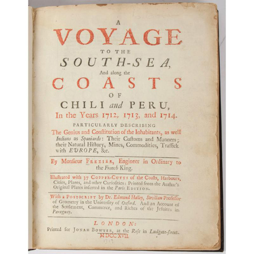 Voyages and Travel - South Seas - Frezier