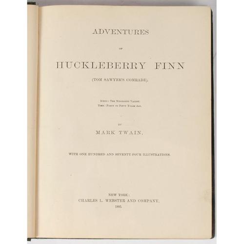 Literature - Mark Twain, Huckleberry Finn, First Edition, Early Issue