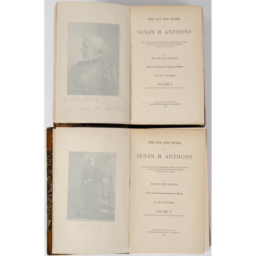 Women Suffrage - Civil Rights - Autographs - A Unique Extra-Illustrated Life of Susan B. Anthony With More Than 30 Autograph