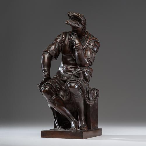 Lorenzo de Medici Bronze, After Ferdinand Barbedienne