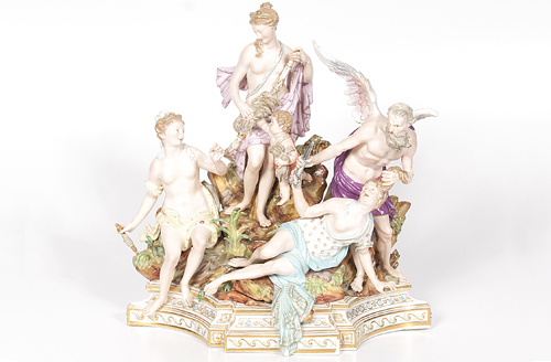 Meissen Figural Group of Three Fates