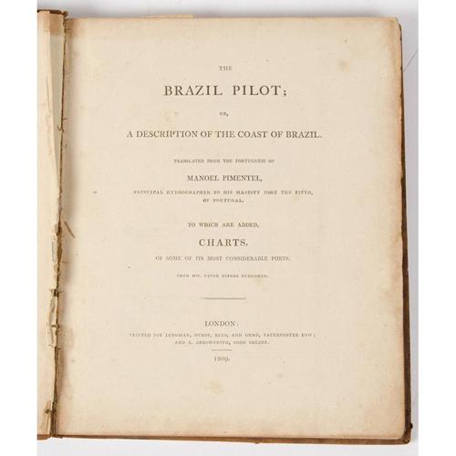 Travel - South America - Atlas - Pimentel, The Brazil Pilot, 1809 Rare Geographical Atlas with 15 Maps plus 5 Pages of Manuscript