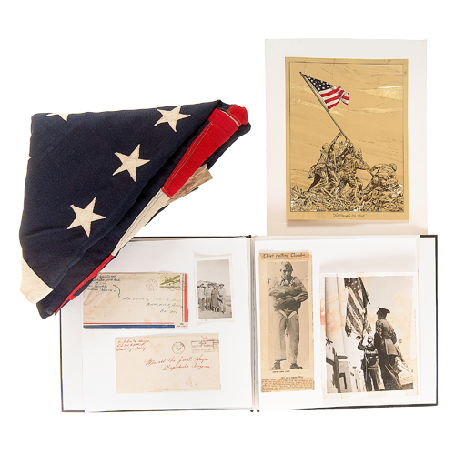 Raising the Flag on Iwo Jima, Collection Incl. Flag, Photographs, Autographs, and More