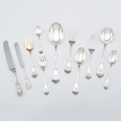 Tiffany Sterling Flatware Service, Beekman Pattern