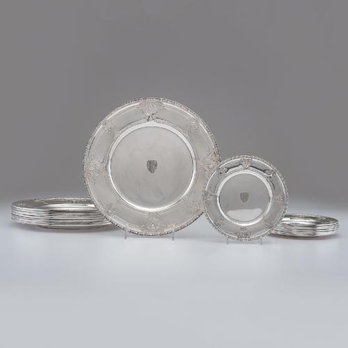 Watson Co. Sterling Plates, Navarre Pattern