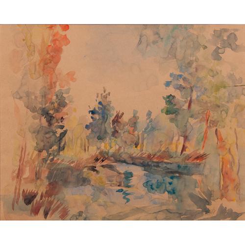 Jean Dufy (French, 1888-1964) Watercolor