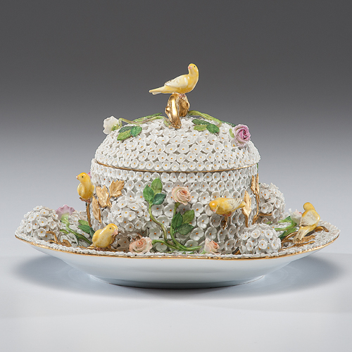 Meissen Lidded Bowl and Undertray