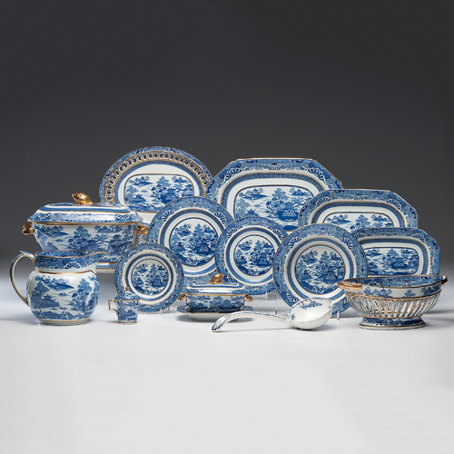 Spode China Service, Temple Blue Pattern