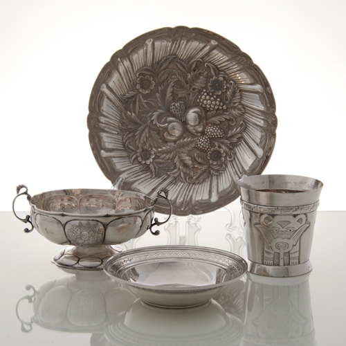 Sterling and Silver Hollowware, Lot of Four