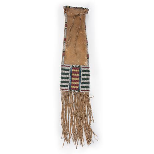 A Fine Cheyenne Beaded Hide Tobacco Bag