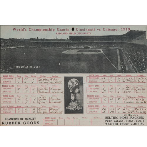 Cincinnati Reds vs. Chicago White Sox 1919