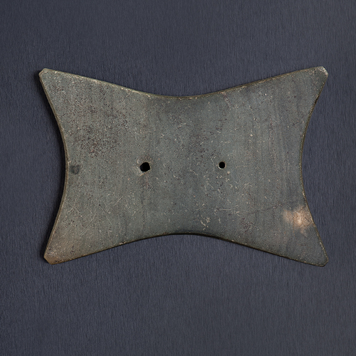 A Quadraconcave Slate Gorget, From the Collection of Jan Sorgenfrei