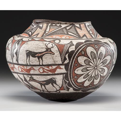 Zuni Polychrome Pottery Olla