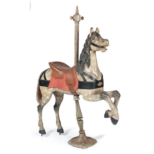 Gustav Dentzel Carousel Horse in Original Paint