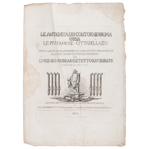 Roman Architecture Portfolio by Luigi Rossini, Le Antichita Dei Contorni di Roma and Le Antichita a di Preneste e del Tusculo