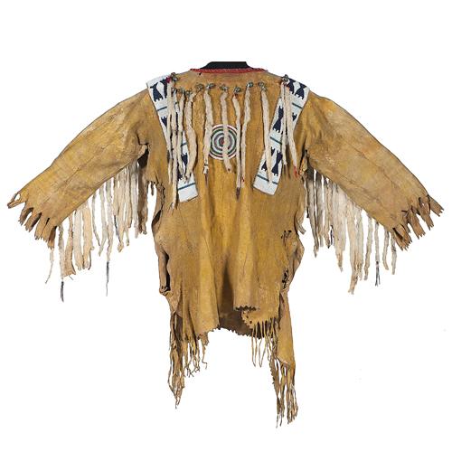 Blackfoot Beaded Hide War Shirt, Collected by John M. Phillips (1861-1953)