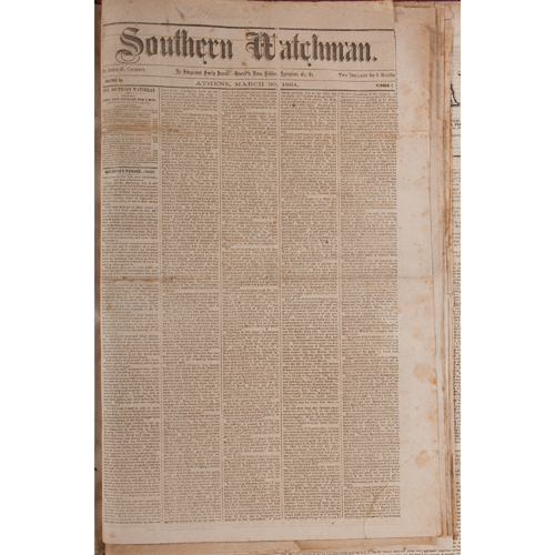 Bound Volume of Confederate Newspapers, Many Titles Represented