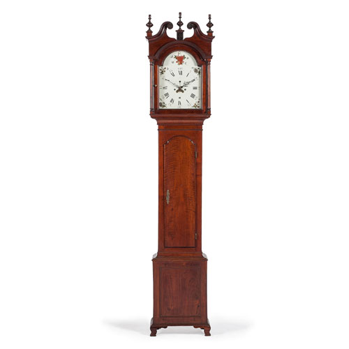 Effingham Embree Federal Tall Case Clock