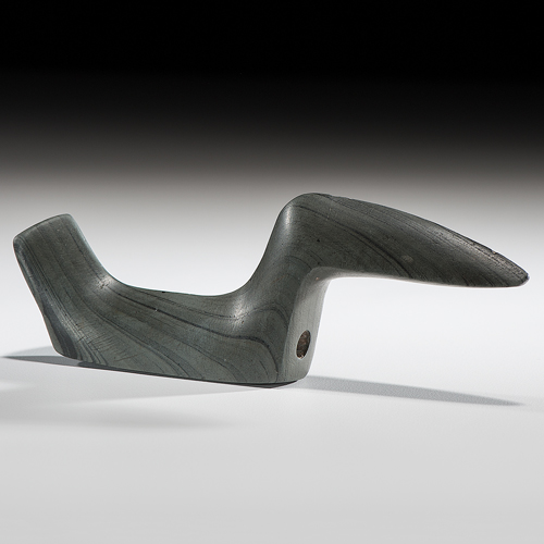 Elongated Slate Birdstone, From the Collection of Jan Sorgenfrei