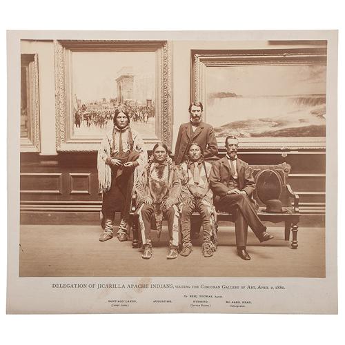 Jicarilla Apache Delegation Visits the Corcoran Gallery of Art, 1880