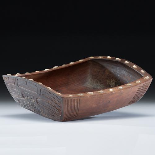 Northwest Coast Carved Wood Grease Bowl