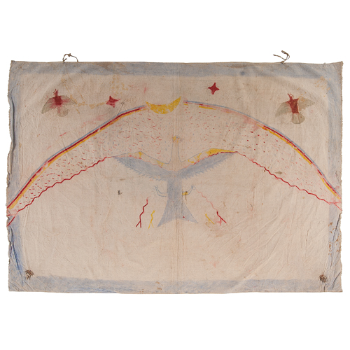 Sioux Painted Muslin Warrior