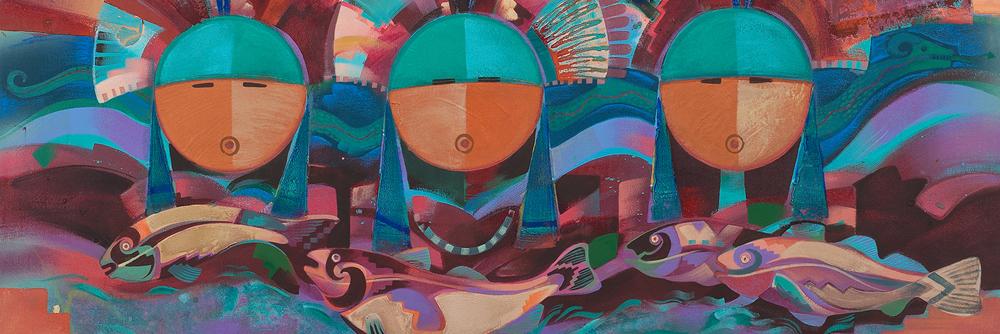 Tony Abeyta (Dine, b. 1965) Acrylic on Canvas
