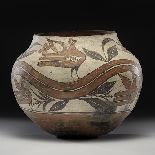 Trinidad Medina (Zia, 1884-1969) Attributed Pottery Olla