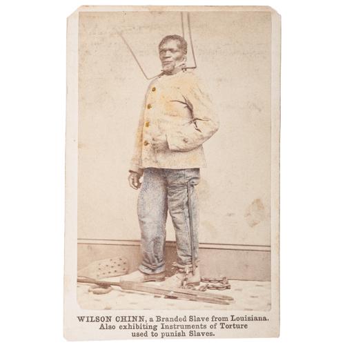 Wilson Chinn, Branded Slave from Louisiana, CDV
