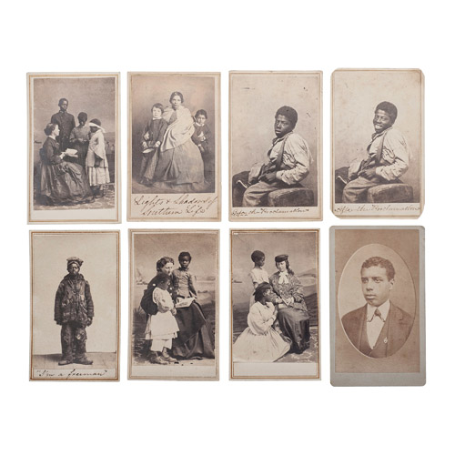 Exceptional Abolitionist Family CDV Album Containing Photographs of Slaves, Views of Port Royal, South Carolina, and Portraits of Prominent Abolitionist