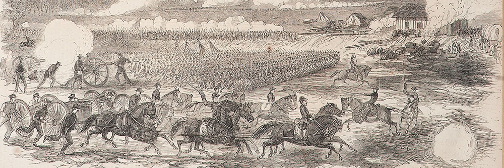 Battle at Savage Station, Virginia, June 1862, Civil War Pencil Sketch by Alfred R. Waud
