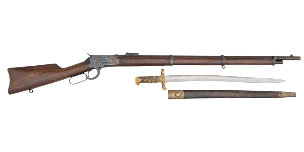Winchester Model 1892 Musket w/Brass Handled Saber Bayonet