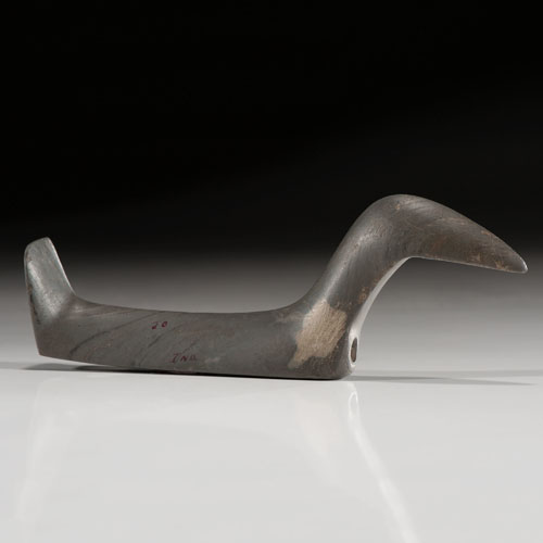 An Elongated Slate Long Neck Birdstone